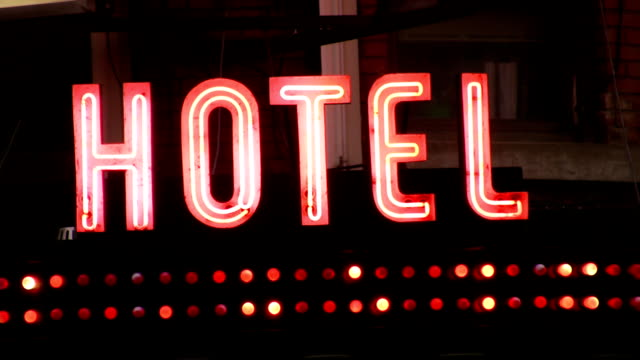 Hotel Sign. video
