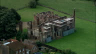 Houghton House (Ruins)  - Aerial View - England, Central Bedfordshire, Ampthill, United Kingdom video