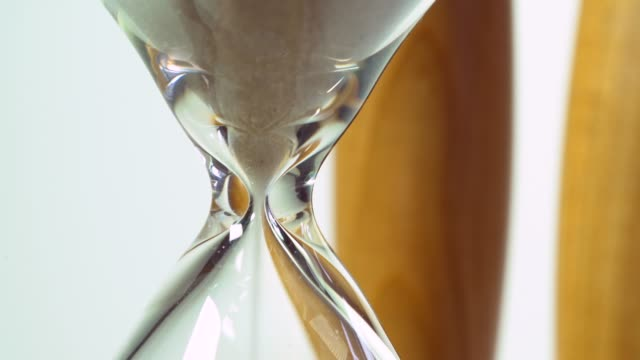 Hourglass, close up video