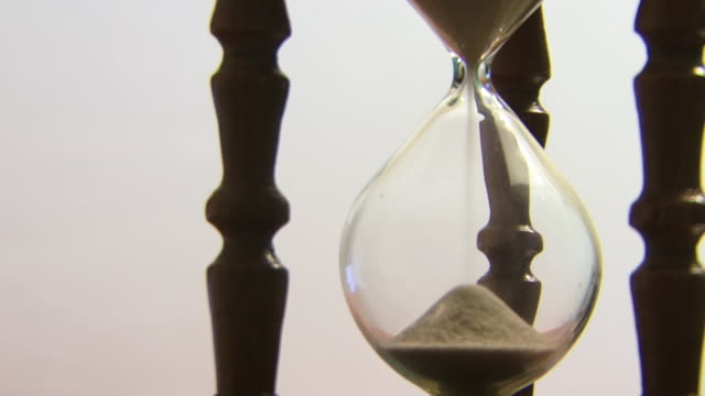 Hourglass counting the time HD video