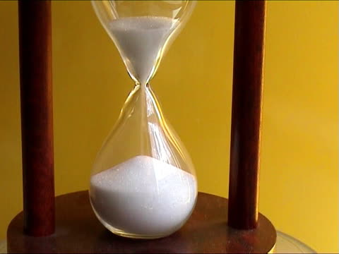 Hourglass counting the time video