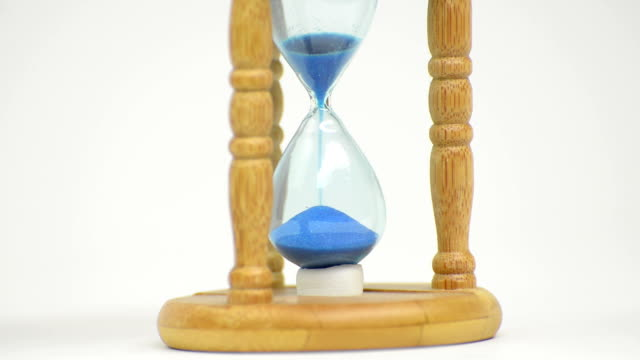 Hourglass with blue sand - HD Stock Video video