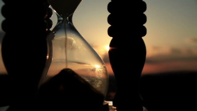 Hourglass  with Cloud Background video