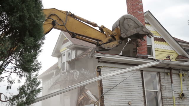 House being demolished video