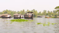 House boat in backwaters video