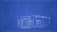 House Building concept on blueprint HD Animation video