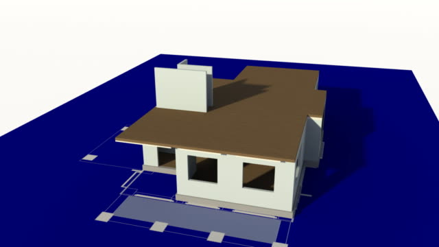 House Constructed on a Blueprint video