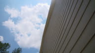 House Fiber Cement Siding Look Up Panning video