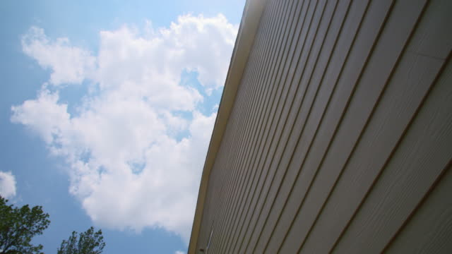 House Fiber Cement Siding Look Up Panning video