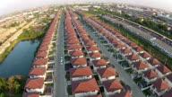 House neighborhood flying video