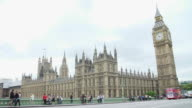 House Of Parliament From Westminster Bridge With Tourists video