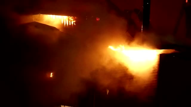 House on fire. Inferno conflagration. video