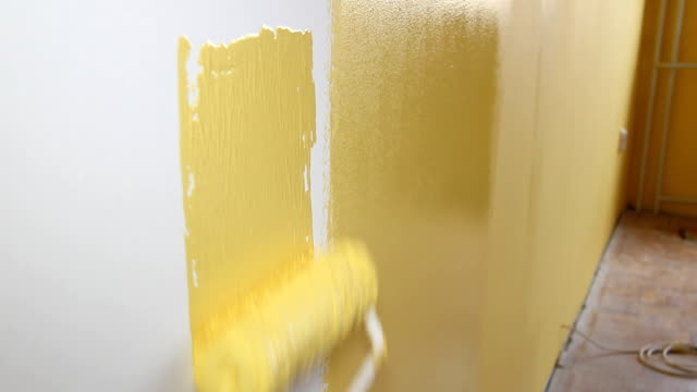 House painter in action video