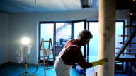 House painter painting residential home interior video