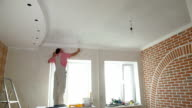 House Painter  painting the kitchen ceiling video