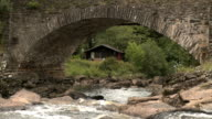 House under a bridge video