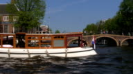Houseboats along canals, Amsterdam, Netherlands video