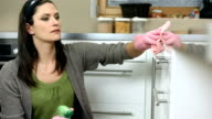 HD: Housecleaner Cleaning The Kitchen video