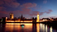 Houses Of Parliament and Big Ben at Dusk video