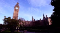 Houses of Parliament and Big Ben in Westminster video