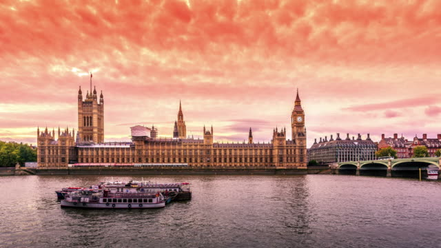 Houses of Parliament day to night video