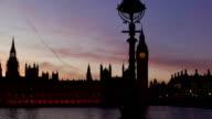 Houses of Parliament, London tracking timelapse at sunset close-up version video