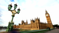 Houses Of Parliament wide shot video