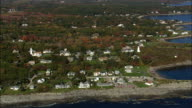 Houses on cape Elizabeth - Aerial View - Maine,  Cumberland County,  United States video