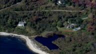 Houses On Fishers Island  - Aerial View - New York,  Suffolk County,  United States video