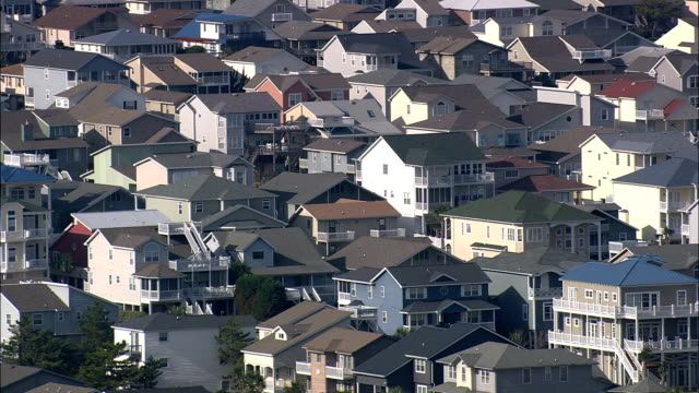 Houses On Ocean Isle Beach  - Aerial View - North Carolina,  Dare County,  United States video