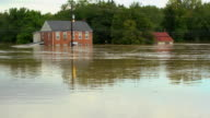Houses Under Water In Flood video