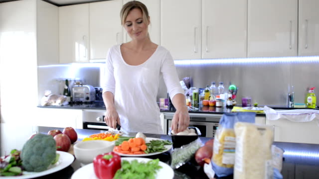 Housewife cooking video