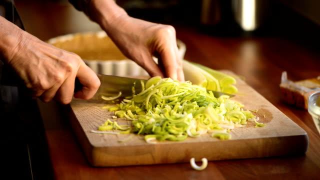 Housewife preparing vegetables in her kitchen video