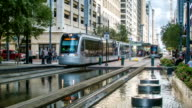 Houston TX Downtown City Center Main Street Scene with Metro video