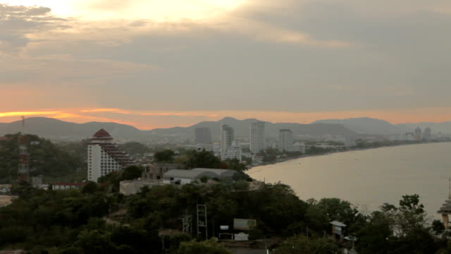 Hua Hin City,Thailand,View from the top video