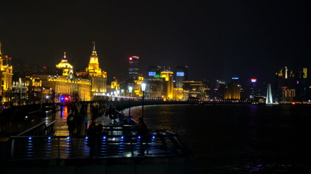Huangpu River and as Background the Skyline of the Northern Part of Puxi video