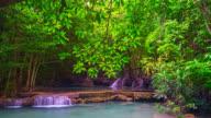 8K. Huay Mae Kamin Waterfall, beautiful waterfall video