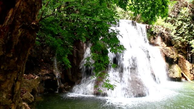 Huay mae kamin waterfall in Thailand video