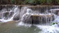 Huay Mae Kamin Waterfall Kanchanaburi Thailand video