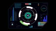 Hud futuristic Interace button video