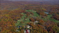 Hudson National Golf Club - Aerial View - New York,  Westchester County,  United States video