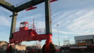 Huge Mobile Crane in the harbour video