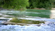Huge rock in river. video