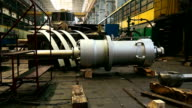 huge turbine on the factory video