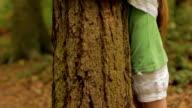 Hugging a tree video