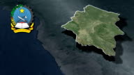 Huila with Coat of arms animation map video