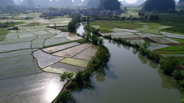 Huixian Wetland park,Lingui,Guilin,Guangxi,China video