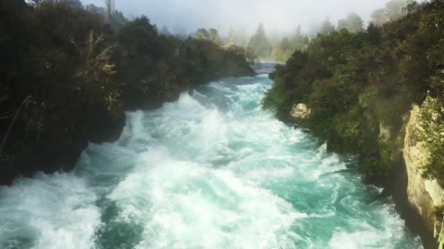 Huka Falls near Lake Taupo  New Zealand video