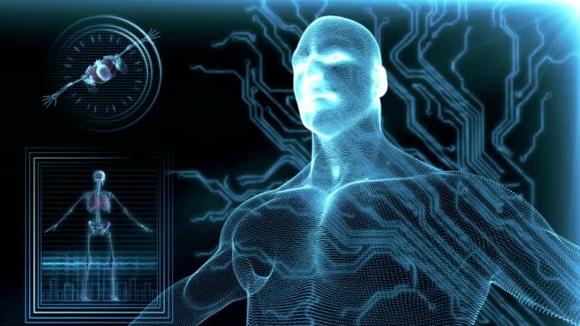 Human body medical Scan video