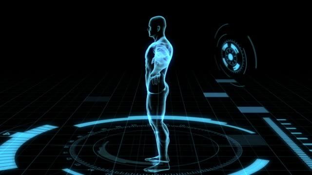 Human Body scan futuristic video